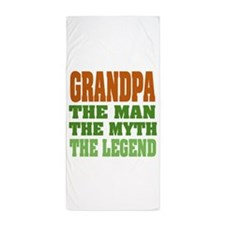 Grandpa The Legend Beach Towel