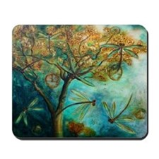 Dragonfly Flirtation Mousepad
