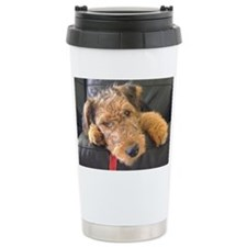 Earnest the Airedale Travel Mug