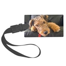 Earnest the Airedale Luggage Tag