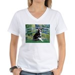 Bridge & Boston Ter Women's V-Neck T-Shirt
