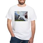 Creation of a Boston Ter White T-Shirt