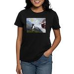 Creation of a Boston Ter Women's Dark T-Shirt