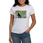 Irises & Boston Ter Women's T-Shirt