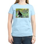 Irises & Boston Ter Women's Light T-Shirt