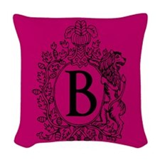 Berry Personalized Monogram Woven Throw Pillow