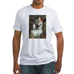 Ophelia & Boston Terrier Fitted T-Shirt
