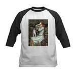 Ophelia & Boston Terrier Kids Baseball Jersey