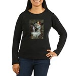 Ophelia & Boston Terrier Women's Long Sleeve Dark