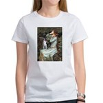 Ophelia & Boston Terrier Women's T-Shirt