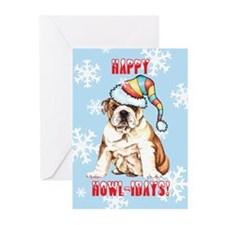 Holiday Bulldo Greeting Cards