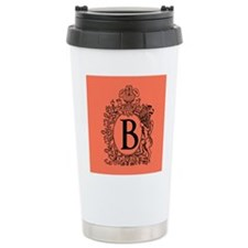 Pink Personalized Monogram Travel Mug