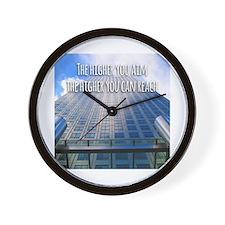 Aim High Reach High Wall Clock