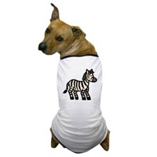 Cartoon Zebra Dog T-Shirt