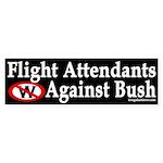 Flight Attendants Against Bush (sticker)