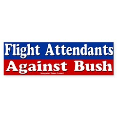 Flight Attendants Against Bush (car sticker)