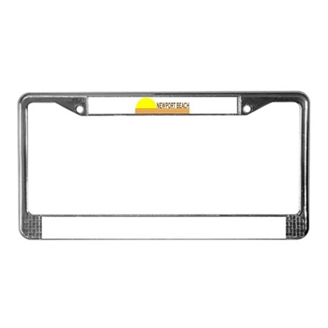 Newport Beach, California License Plate Frame