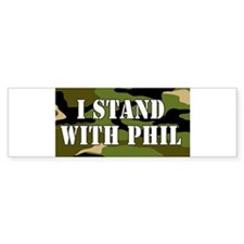 CAMO I Stand With Phil (robertson) Bumper Bumper Sticker