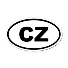 Czech Republic CZ Oval Car Magnet