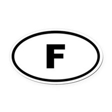 France F Oval Car Magnet