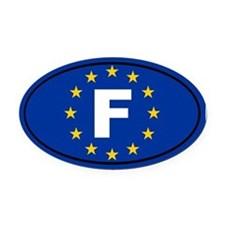France European Union Oval Car Magnet
