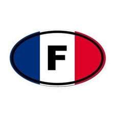 France Flag Oval Car Magnet
