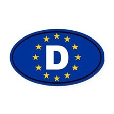 Germany European Union Oval Car Magnet