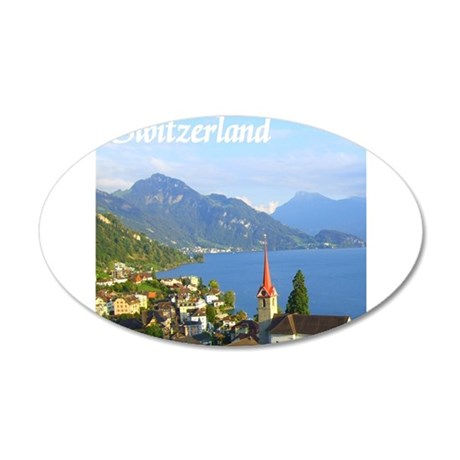 Switzerland view over lake Wall Decal