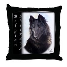 Belgian Sheepdog Throw Pillow