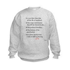 Moliere on Swing Dance Sweatshirt