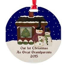 1St Christmas Great Grandparents 2015 Ornament
