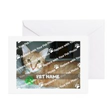 CUSTOMIZE Add Pet Photo And Name Greeting Cards 10