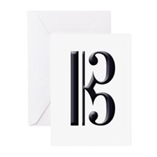 Alto Clef Alone Greeting Cards