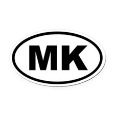 Macedonia MK Oval Car Magnet