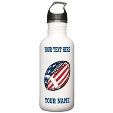 American Football - Personalized Water Bottle