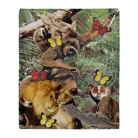 Jungle Jive Throw Blanket