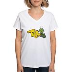 TOS Women's V-Neck T-Shirt