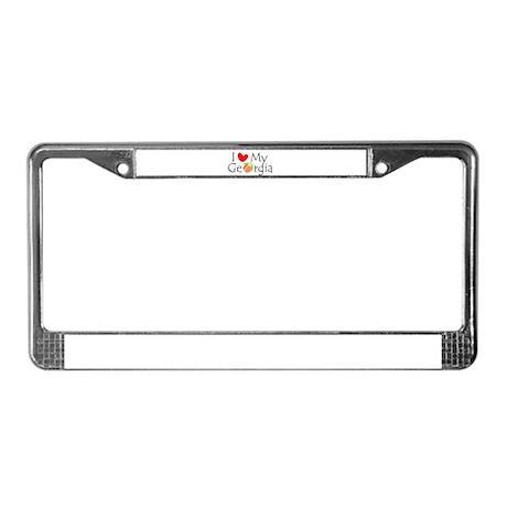 I love my Georgia peach License Plate Frame