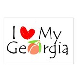 I love my Georgia peach Postcards (Package of 8)
