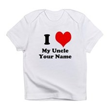 I Heart My Uncle (Your Name) Infant T-Shirt