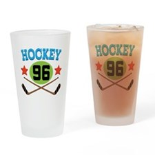 Hockey Player Number 96 Drinking Glass