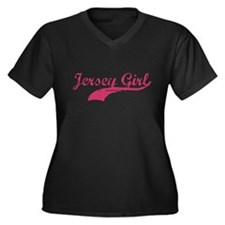 JERSEY GIRL T-SHIRT NEW JERSE Women's Plus Size V-
