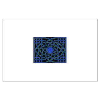 celtic weave design by Alan M Large Poster