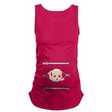 Funny Peek boo Maternity Tank Top