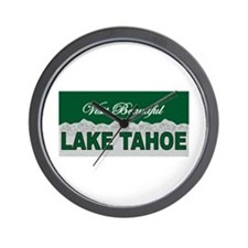 Visit Beautiful Lake Tahoe Wall Clock