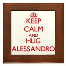 Keep Calm and HUG Alessandro Framed Tile