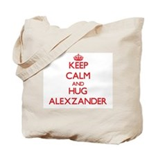 Keep Calm and HUG Alexzander Tote Bag