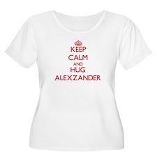 Keep Calm and HUG Alexzander Plus Size T-Shirt