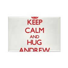 Keep Calm and HUG Andrew Magnets
