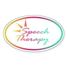 Speech Therapy Oval Decal